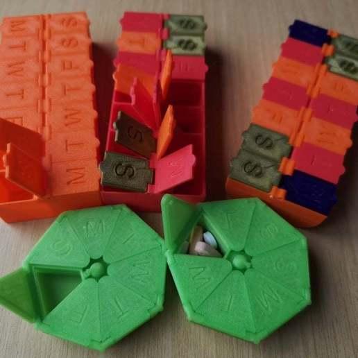 Télécharger objet 3D gratuit Pilulier 2 semaines, Oggie