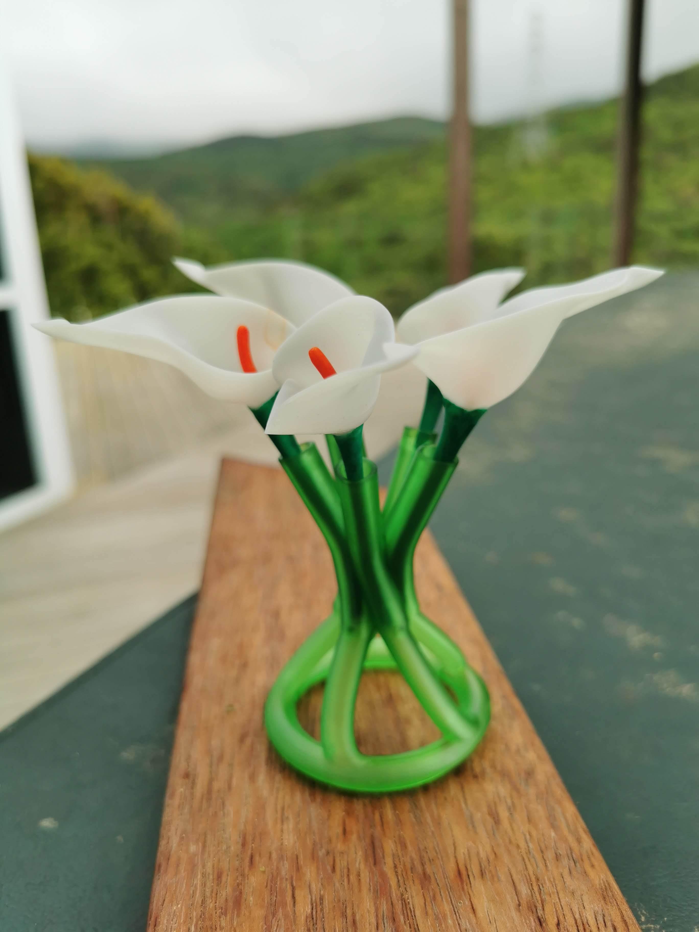 Lily_3.jpg Download free STL file Cala Lily • 3D printer template, Oggie