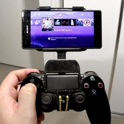 Free STL files Sony Xperia Z3 Mount For Playstation Dualshock 4, Reshea