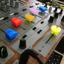 Retro_Pacmixer_display_large.JPG Download free STL file Pacman Trick Scratch Fader Crossfader • Object to 3D print, Reshea