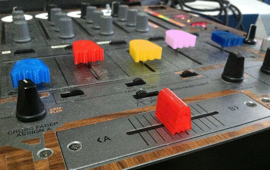 Ghostlyfaders_display_large.jpg Download free STL file Ghostly Pro-Audio Fader, Crossfader, and Knob assortment for mixers, midi, dj, etc • 3D printer model, Reshea