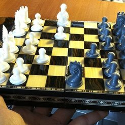 Free STL file Low profile Thingiversal Chess Set - Primordial, Reshea