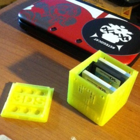case2_display_large.jpg Download free STL file Nintendo 3DS DS Game Cartridge Case Mario Bros Question-Mark Box with snap-top • 3D printer object, Reshea