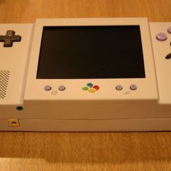 Download free 3D printing designs Super Nintendo Portable Case, Clenarone