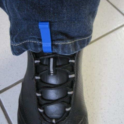 Free STL trouser leg's clip for motorbike boots / shoes, Clenarone
