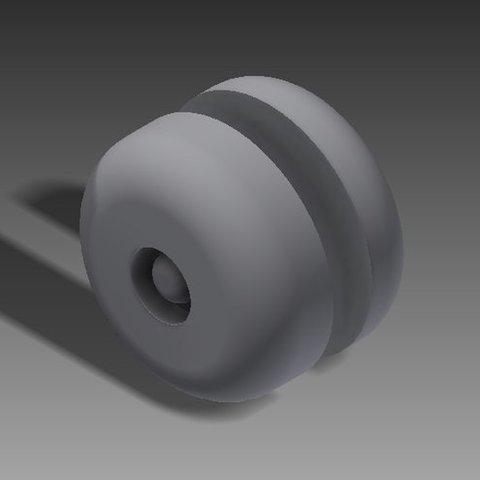 Imprimir en 3D gratis Botón del cinturón de seguridad, Clenarone