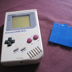 Download free 3D printer templates Nintendo GameBoy battery cover, Clenarone