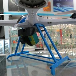IMG_4330_display_large.JPG Download free STL file Yizhan Tarantula X6 - Out Of View Landing Gear - Quadcopter • 3D print object, Clenarone