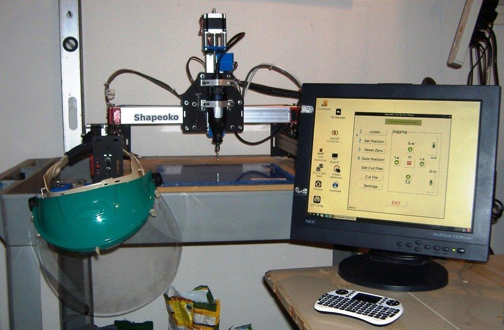 ShaCNC_GUI2_display_large.jpg Download free STL file Shapeoko 2 Raspberry Pi B+ Workstation • 3D printable template, Odrenria