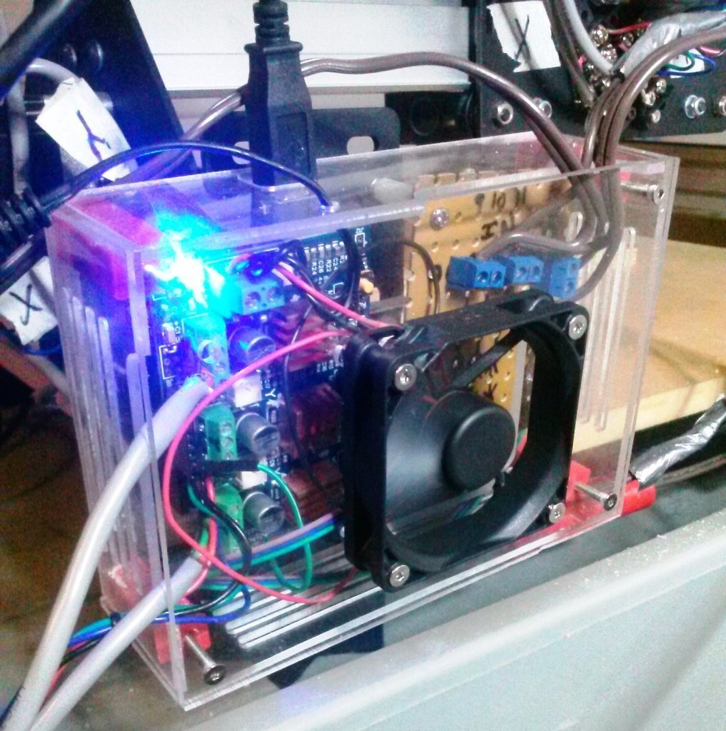 Electronics_Box3_display_large.jpg Download free STL file Shapeoko 2 Electronics Enclosure • 3D printable model, Odrenria