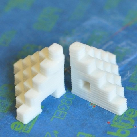 Download free 3D printer templates 5mm Calibration Cube Steps, Odrenria