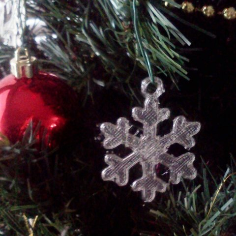 image1_display_large.jpg Download free STL file Dainty Snowflake Xmas Ornament • 3D printer object, Odrenria