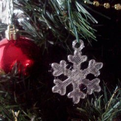 Download free 3D printing files Dainty Snowflake Xmas Ornament, Odrenria