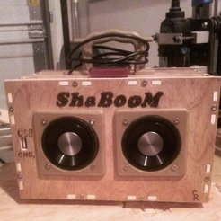 CAM00136_display_large.jpg Download free STL file ShaBOOM - 10W Stereo MP3 BoomBox & Power Bank • 3D printer model, Odrenria