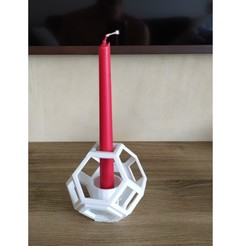 Download free 3D print files Candlestick candle holder candlestick polygon 3d #polymakerchallenge, maby0613