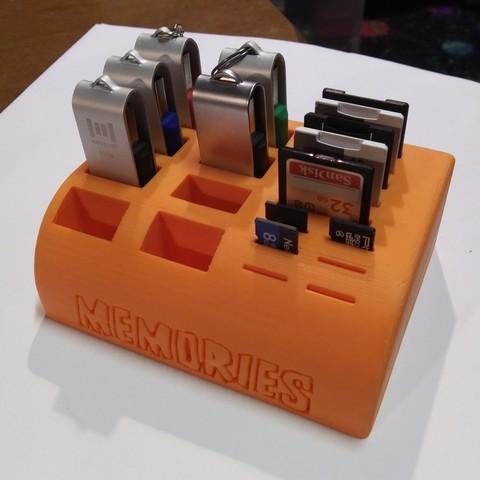 Télécharger fichier STL gratuit SD, MicroSd et clé USB Caddie / Support, SierraTech