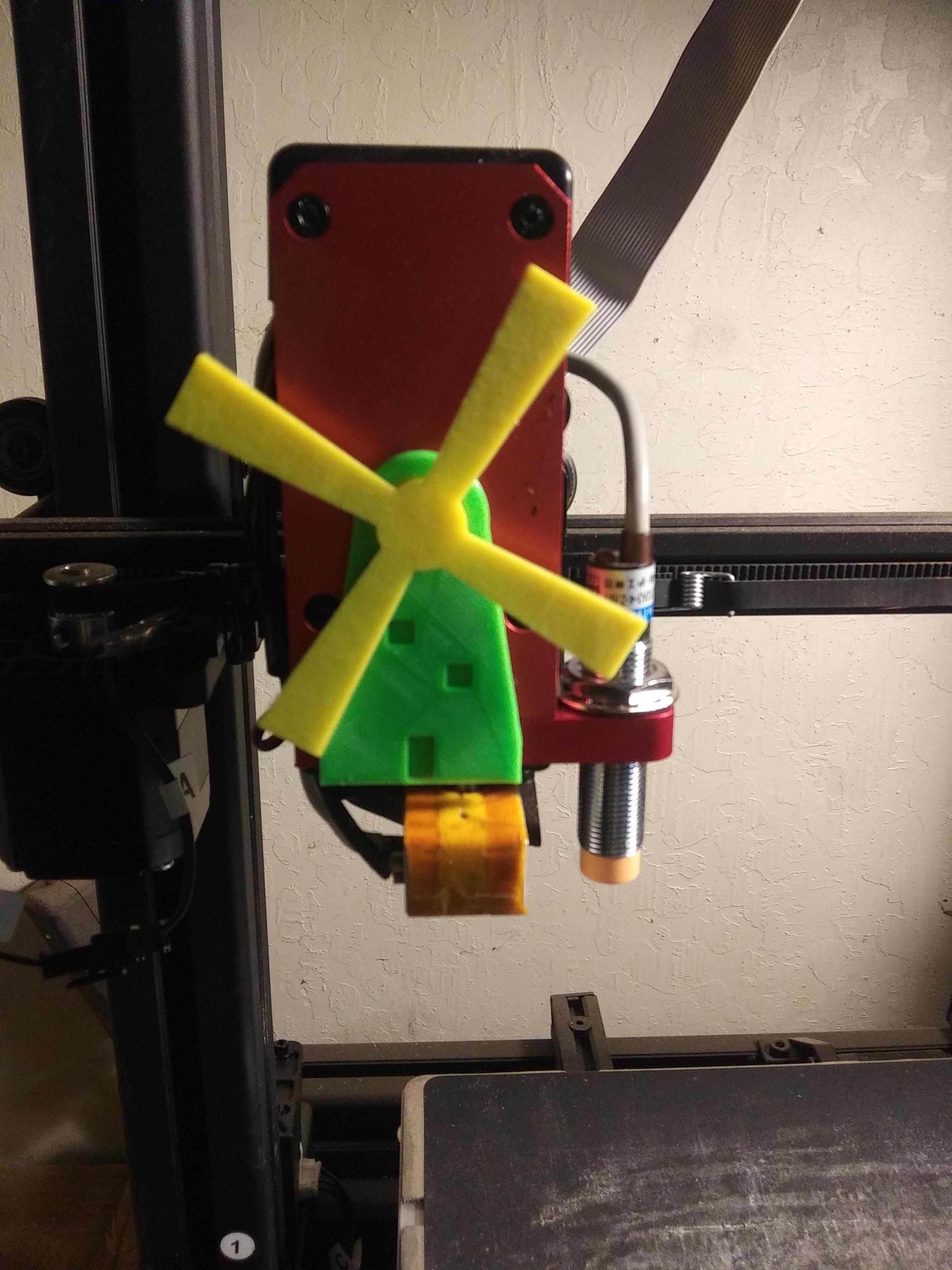 Monoprice_Extruder_Amish_Mill.jpg Télécharger fichier STL gratuit Indicateur d'extrudeuse pour Monoprice Maker Select Pro / Wanhao D9 Moulin à vent Amish • Design pour impression 3D, SierraTech