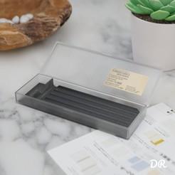 Image2.jpg Download free STL file Pen case divider - Customizable - Muji pen case divider • 3D printable template, DallaRosaDesign