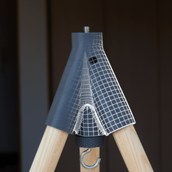 Download free STL Insta-tripod and monopod - 3d printed tripod, il_dalla