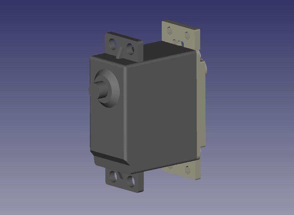 servo_double_shaft-2_display_large.jpg Download free STL file Servo lower cover • 3D printing design, Ogrod3d