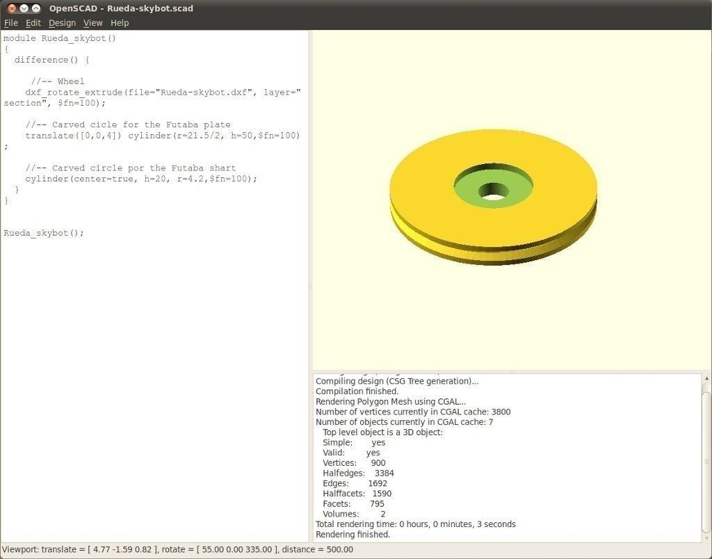 Ruedas-skybot-G3-v2-openscad-1_display_large_display_large.jpg Download free STL file Servo wheel for mobile robots • 3D printing template, Ogrod3d