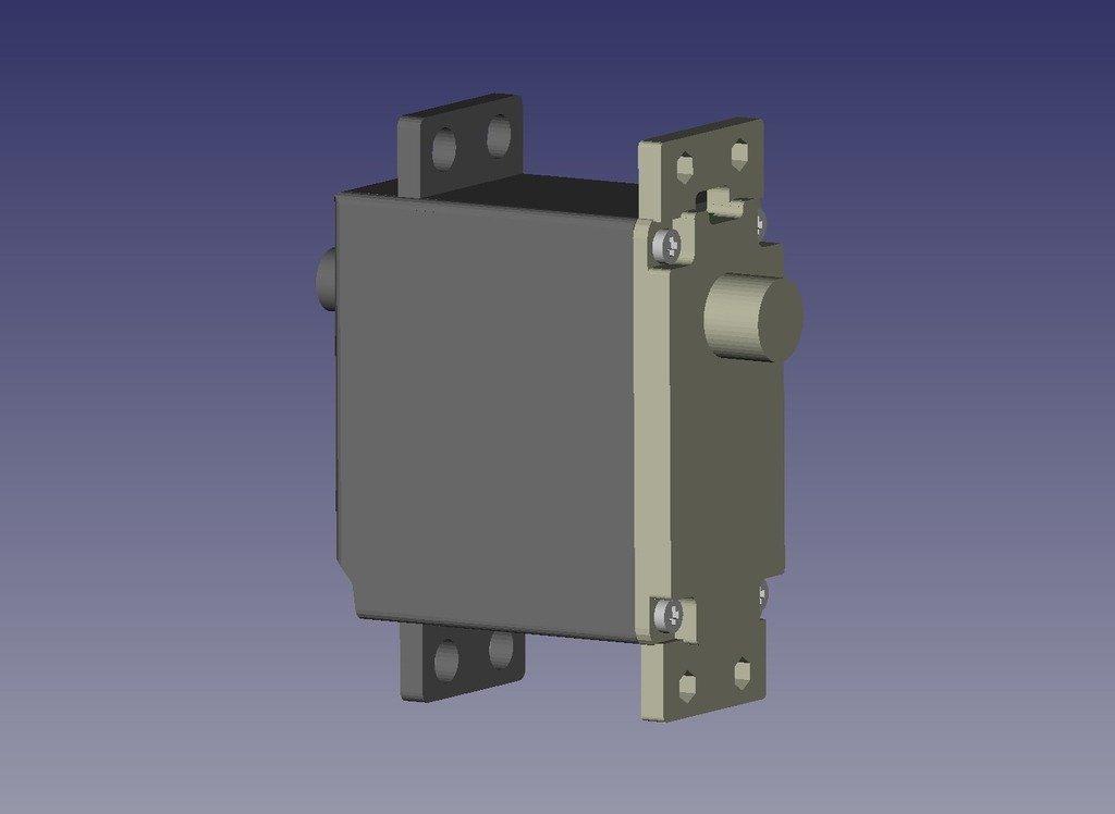 servo_double_shaft-1_display_large.jpg Download free STL file Servo lower cover • 3D printing design, Ogrod3d
