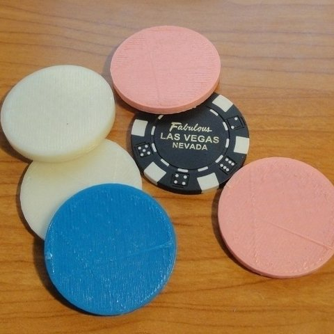 Download free 3D printing templates Casino chips, Ogrod3d