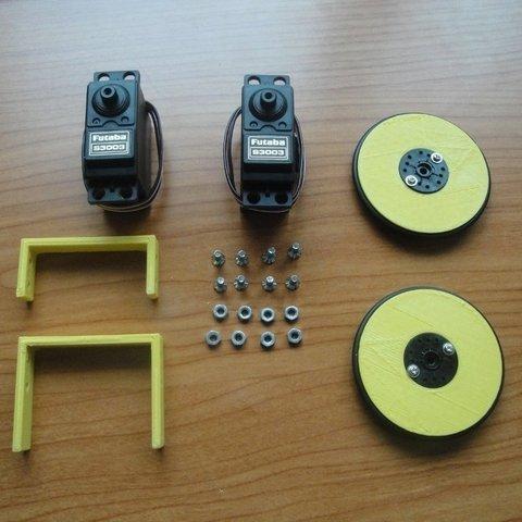 MiniSkybot-chasis-parts_display_large_display_large.jpg Télécharger fichier STL gratuit Châssis de robot MiniSkybot • Plan imprimable en 3D, Ogrod3d