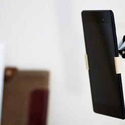 Download free STL file IKEA TERTIAL lamp Nexus 7 (2013) mount, Werthrante