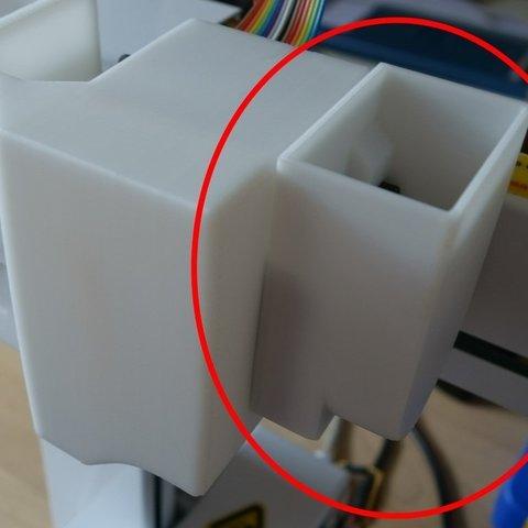 Télécharger modèle 3D gratuit Mise à niveau pour l'impression PLA : PP3DP Up plus 2 refroidisseurs pour moteur pas à pas d'extrudeuse, Werthrante