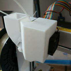 Download free 3D printer templates PLA printing: PP3DP Up plus 2 extruder stepper motor cooler, Werthrante