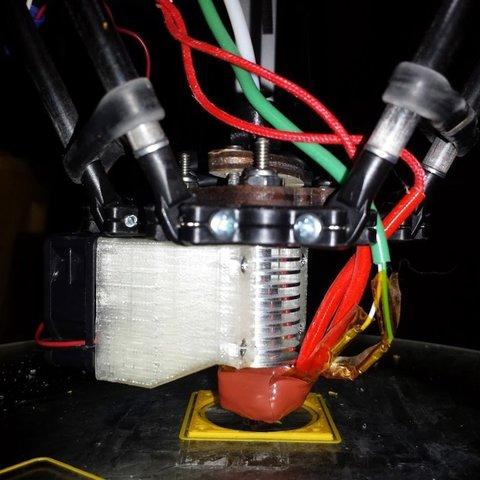 Télécharger STL gratuit e3d 40mm support de ventilateur rostock max, Werthrante