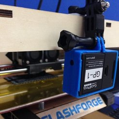 Download free 3D printer designs GoPro Hero3 Black 3D Printed Mount, Werthrante