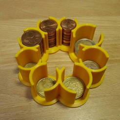 Free 3D printer model Euro Coin Holder, Werthrante