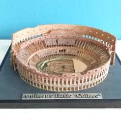 Download 3D printer model Coliseum Amphitheatre Flavius Rome, Factoria3D