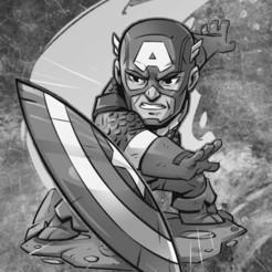 Télécharger plan imprimante 3D Lithophone Captain America, ladyranita