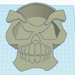 full.PNG Download STL file Skull Pencil Holder • 3D printer object, guilurizargt