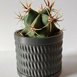 CylindricPatternVase.jpg Download STL file Spike Pattern Ikea cactus pot • 3D print template, AlexEarp