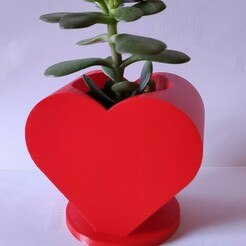 IMG_20210123_161027.jpg Download STL file Heart shaped Ikea cactus pot • 3D printing object, AlexEarp