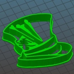 mad hatter hat file.jpg Download STL file Mad hatter cookie cutter • 3D print object, amefitz737