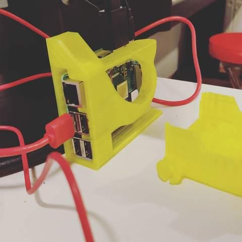 Plan imprimante 3D gatuit Etui Pi 3/3+ Framboise (sans support - une pièce), mileitgeb