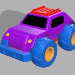 Free 3D printer model TOY CAR, 3D_Bus_Driver