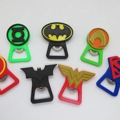 Download 3D printing templates DC Heroes / Beer opener DC Heroes, 3dgag