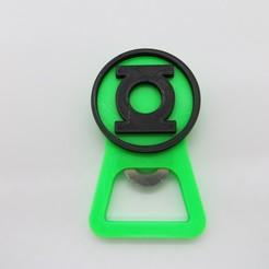 Télécharger fichier 3D Lanterne verte Décapsuleur / ouvre-bouteille DC Heroes, 3dgag