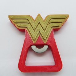 Descargar archivo 3D Destapador Wonder Woman / Beer opener DC Heroes, 3dgag