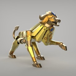 Impresiones 3D Santo Seiya_LION, hungjet