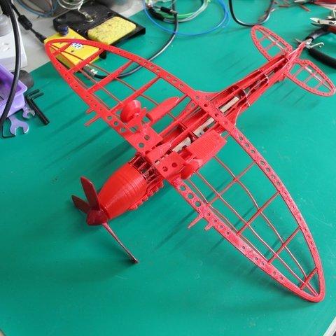 Download 3d Model Spitfire Model Plane For Laser Cutting