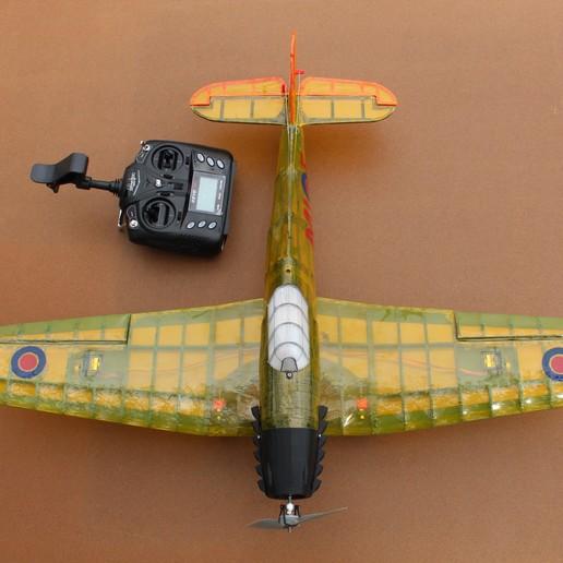 IMG_3670.JPG Télécharger fichier STL gratuit Full RC Hawker Hurricane - projet imprimé 3D • Objet pour imprimante 3D, taciucmarius