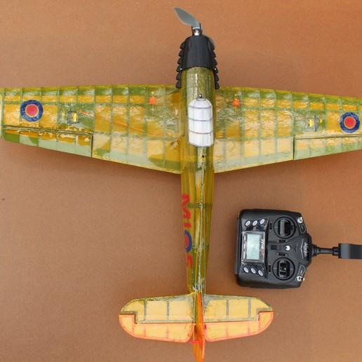 IMG_3669.JPG Télécharger fichier STL gratuit Full RC Hawker Hurricane - projet imprimé 3D • Objet pour imprimante 3D, taciucmarius