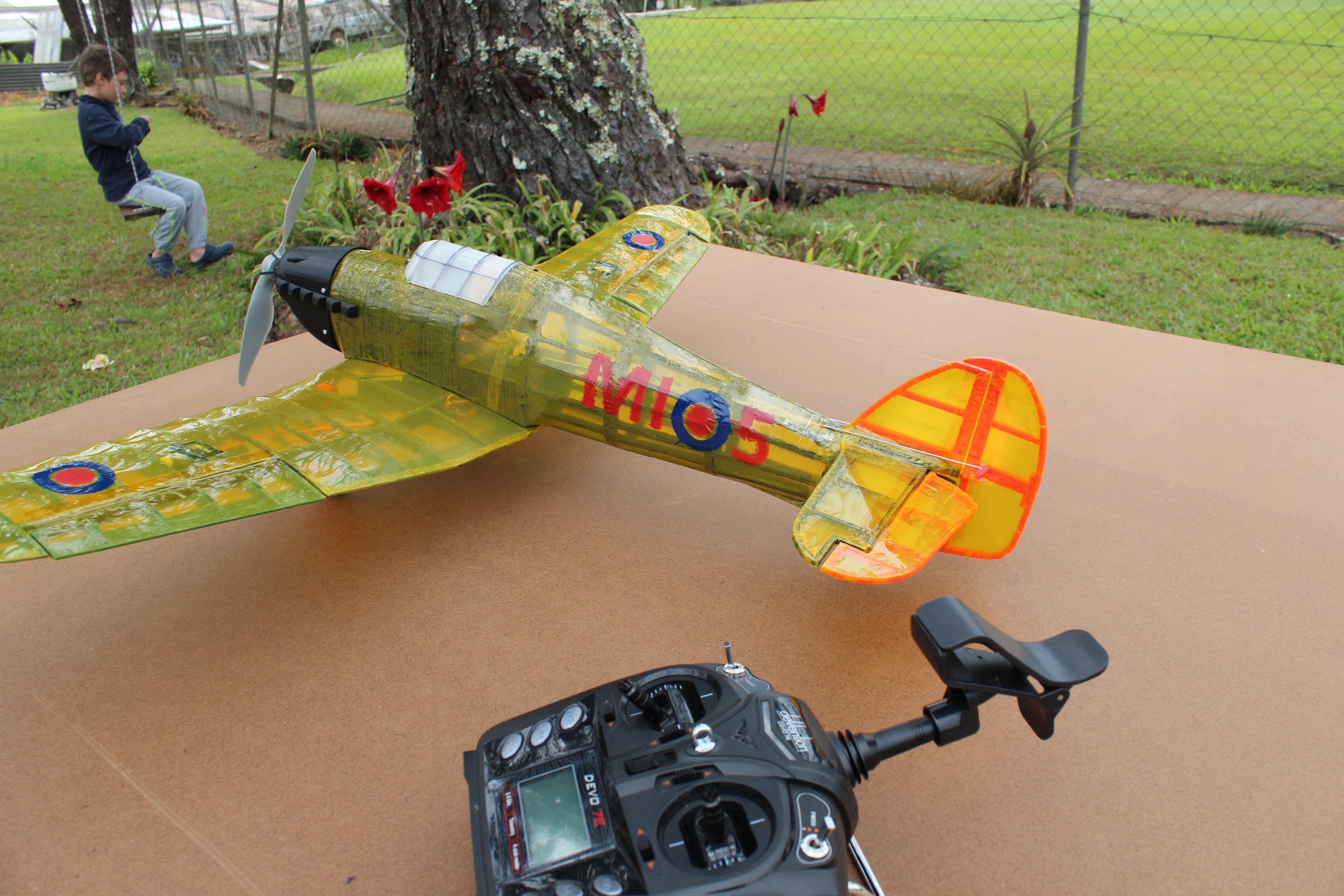 IMG_3665.JPG Télécharger fichier STL gratuit Full RC Hawker Hurricane - projet imprimé 3D • Objet pour imprimante 3D, taciucmarius
